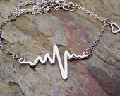 RN Necklace Heart beat Necklace Electrocardiogram Cardio EKG Doctor Nurse Gift Medical Professional LPN Jewelry