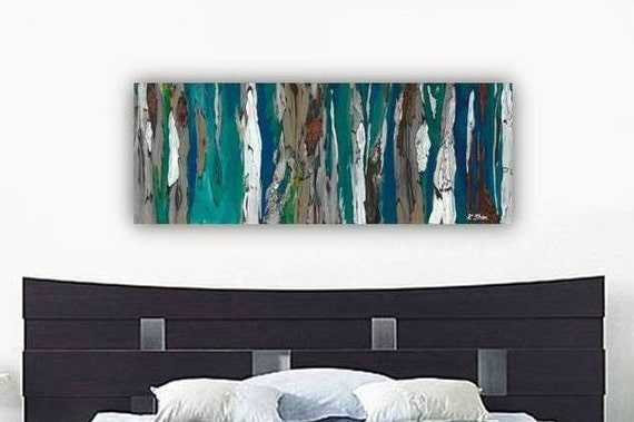 Extra large wall art very large artwork huge blue long giclee for Extra large wall art