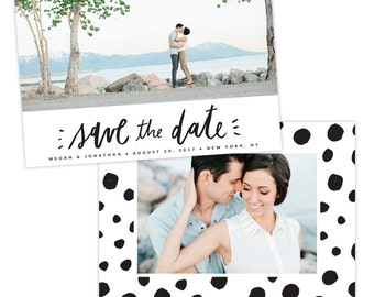 INSTANT DOWNLOAD - Save the Date card | Dotted Love -  E1336