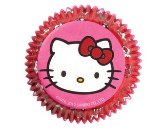 Hello Kitty Cupcake Liners -- Officially Licensed by Sanrio - Set of 50
