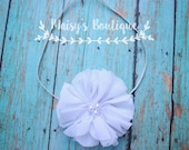 75% Off Whine Pearl Headband/ Newborn Headband/ Baby Headband/ Flower Girl/ Wedding/ Photo Prop