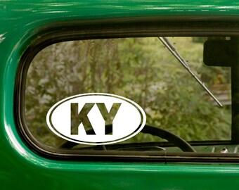 Oval KY Decal, Car Decal, Kentucky Sticker, Kentucky Decal, Laptop Sticker, Oval Sticker, Bumper, Vinyl Decal, Car Sticker