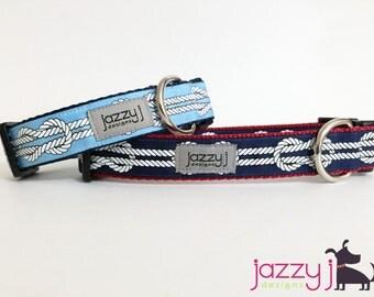 Nautical Knots Dog Collar