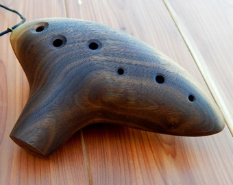Alto Ocarina Flute in Walnut - Velvet Bag Included