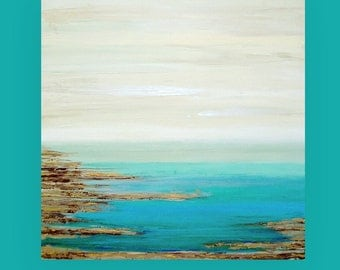 Art, Large Painting, Original Abstract, Acrylic Paintings on Canvas by Ora Birenbaum Titled: Retreat 4 48x48x1.5""