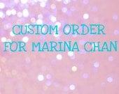 Custom Headband Order for Marina Chan