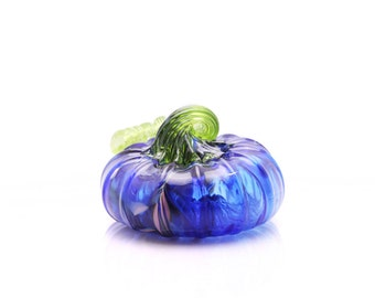 Blue Glass pumpkin