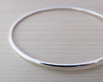 Simple Silver Bangle - Sterling Silver