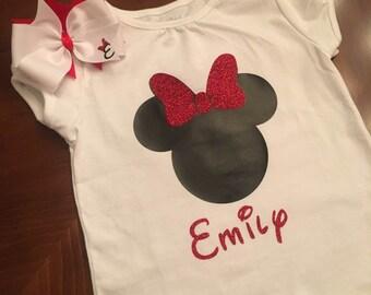Custom Minnie Mouse Tshirt - Mickey Mouse Tshirt - Kids Disney Shirt - Girls Minnie Shirt - Boys Mickey Shirt - Adult Disney Shirts