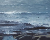 Original landscape painting - Lake Superior Waves