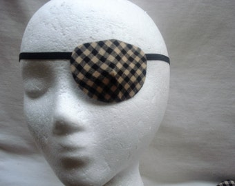 """Man's handmade eye patch, """"The Classic"""" - vision accessory, eye care aide, cataract aide, eye health, one size fits all,men's gift idea"""