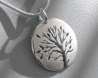 Dance of Autumn Pendant, Sterling Silver Jewellery, Silver Pendant.