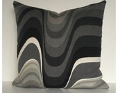 "Vintage Heals Frequency Fabric 20"" X 20"" Cushion Cover - Barbara Brown 1960s"