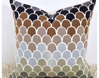 """Vintage 70s Humphrey Spender Sirocco Fabric Cushion Cover 20"""" x 20"""""""