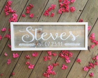 Personalized family sign. Family name sign. Established sign. Painted wood sign.