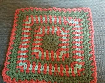 Around the block - crocheted dishcloth