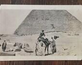 Original Antique Photograph The Pyrimads & Foreign Lands