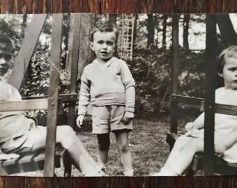 Original Antique Photograph Tiny Trio