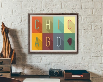 Chicago Grid - Typography Print