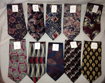 Vintage Neck Ties Bill Blass, KETCH, George Machado, Jordan Scott, Benchmark, Barrington, Del Cino or Don Loper