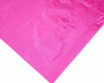 Dark Pink Pure Silk Soft Fabric - Soft Pure Silk - Plain Silk Fabric - Soft Silk Dress/Necktie/Curtain/Evening Gown Fabric