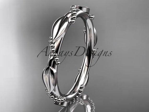 14k  white  gold   wedding ring,engagement ring,wedding band ADLR178B