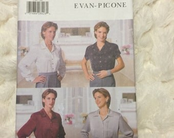 Butterick Evan Picone Misses Petite Top Sewing Pattern B5788 UC Uncut FF Size 20-22-24