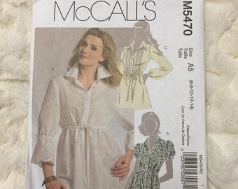 McCall's Misses Tunics Sewing Pattern M5470 UC Uncut FF Size 6-8-10-12-14