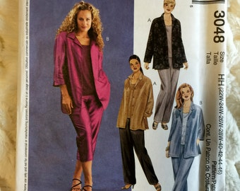 McCalls Misses 13 piece shirt, top and pants Sewing Pattern M3048 UC Uncut FF Size 22 24 26 28 40 42 44 46