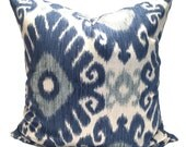 Indigo Blue Pillow, 16x16,18x18, 20x20, 22x22 or 24x24 , Blue Pillow Cover, Pillow Cover, Decorative Pillow, Throw Pillow, Cushion Cover. cm