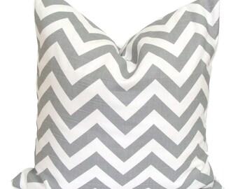 PILLOW.GRAY PILLOW.18x18 inch.Gray Pillow Cover.Decorative Pillow.Grey ZigZag.Cushion Cover.Throw .Chevron.cm.Grey.Pillow Cover.Housewares