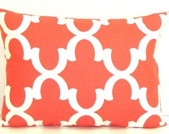 CORAL PILLOW Sale.12x16 inch.Lumbar Pillow Cover.Decorative Pillows.Housewares.Coral Geometric Pillows.Throw Pillows.Toss Pillow.Cushion