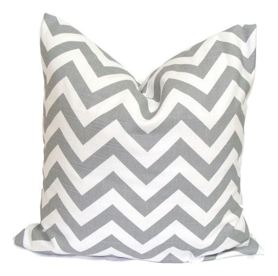 PILLOW.GRAY PILLOW.18x18 inch.Gray Pillow Cover.Decorative Pillow.Grey ZigZag.Cushion Cover.Missoni.Chevron.cm.Grey.Pillow Cover.Housewares