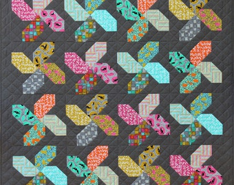 Whirligig Quilt Pattern PDF by Emma Jean Jansen - Immediate Download