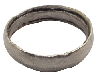 Authentic Ancient Viking Ring Wedding Band  C.900A.D. Size 10 1/4  (20.2mm)[PWR1059]