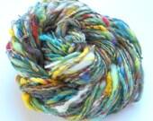 Textured Handspun Yarn - MARIANNE DASHWOOD - Inspired by Sense and Sensibility - Merino, Finn, Sari Silk, Mohair Locks, Bamboo Handspun Yarn