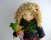 "XMAS SALE -LUCY  20"" doll with puppy , waldorf doll, ar doll"