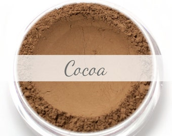 "Mineral Wonder Powder Foundation Sample - ""Cocoa"" - dark shade with a warm to neutral undertone - vegan makeup"
