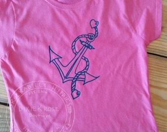 Anchor Tee/Anchor T-shirt/Nautical Tee/Nautical T-shirt