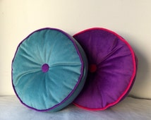 Round PIllow upholstery panne, all customized!!! many colours!