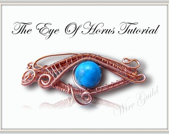 EYE OF HORUS    Woven Wire Pendant/Pin Tutorial