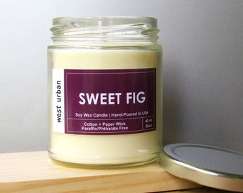 Soy Candle, Scented Jar, Home Decor, Gift, Container Candle, SWEET FIG