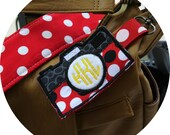 Coordinated Custom Personalized Bag Tag - Camera Embroidery Strap Add On