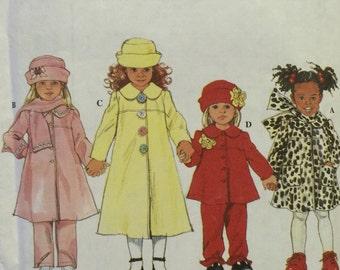 Girls Coat Pattern / Girls Jacket Pattern / Pants Pattern / Girls Hat Pattern / Scarf Pattern / Vintage Pattern / UNCUT / Simplicity 8352