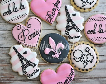 Paris Themed Sugar Cookies (12)