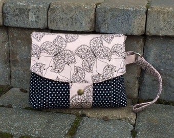 Aster Double Zipper Wristlet with Strap