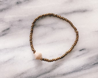Champagne Single Bead Bracelet