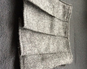 Baby Kilt, various sizes in Charcoal Grey Tweed, 100% Pure New Wool. Handmade in Scotland.