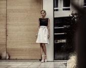 On sale -50% Neoprene overlapping skirt
