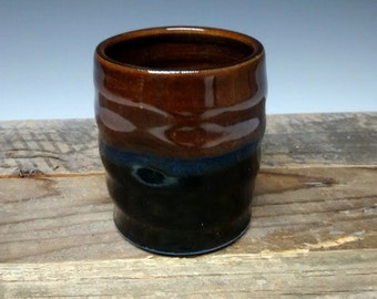 Ceramic Teacup - Handmade Pottery - Blue Stoneware